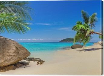 Tropisk strandlandskab i Thailand Fotolærred