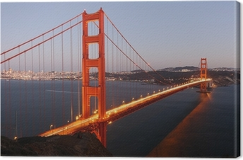 Udsigt til Golden Gate Bridge San Francisco / USA Fotolærred