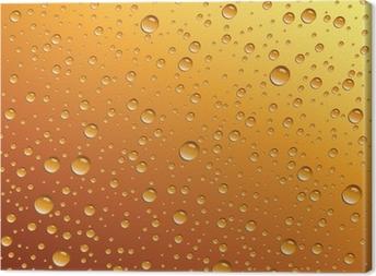 Vanddråber på øl Fotolærred