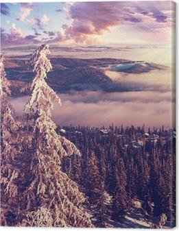 Vinter i Norge Fotolærred
