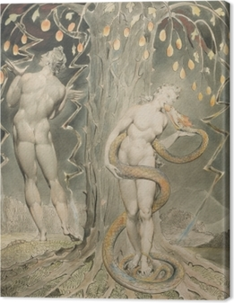 William Blake - Eve fristet af Serpent Fotolærred