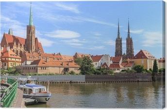 Wroclaw, Ostrow Tumski (katedral ø), Polen Fotolærred