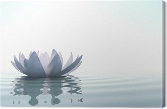 Zen blomst loto i vand Fotolærred