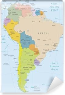 Fotomural Estándar América del Sur-altamente map.Layers detallados utilizados.