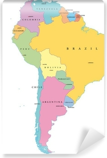 Fotomural Estándar América del Sur, Estados Individual (Südamerika Einzelstaaten)