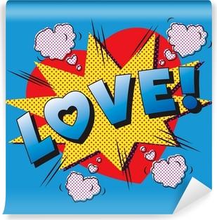 Poster Amor Explosion De Dibujos Animados Enamorarse El Amor De