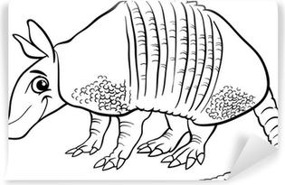 Animales Armadillo Página Para Colorear De Dibujos Animados