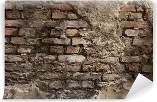 Fotomural Estándar Antigua muralla - fondo - ladrillo
