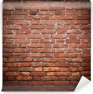 Fotomural Estándar Antiguo grunge pared de ladrillo rojo textura