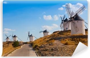 Fotomural Estándar Antiguos molinos de viento en el día soleado de verano, Konsuegra, España