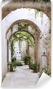 Fotomural Estándar Arcade de la vieja en el castillo