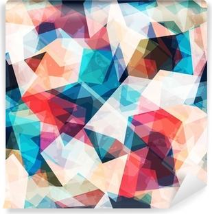 Fotomural Autoadhesivo Color transparente patrón de mosaico con efectos grunge