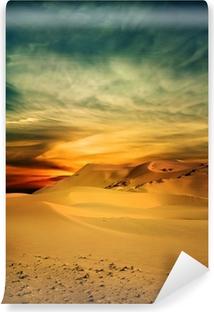 Fotomural Autoadhesivo Desierto de Sandy en el tiempo de la puesta del sol
