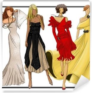 Fotomural Autoadhesivo El grupo de moda de diseño