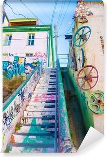 Fotomural Autoadhesivo Escaleras de Valparaiso