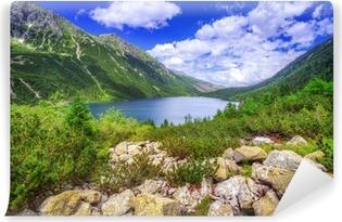 Fotomural Autoadhesivo Eye of the lake mar en las montañas Tatra, Polonia