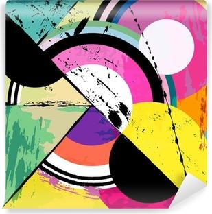 Fotomural Autoadhesivo Fondo círculo abstracto, con trazos de pintura