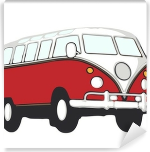 Fotomural Autoadhesivo Roter hippie bus vw