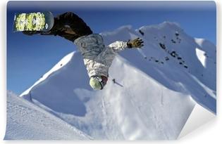 Fotomural Autoadhesivo Saut snowboard