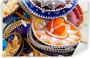 Fotomural Autoadhesivo Sombreros mexicanos