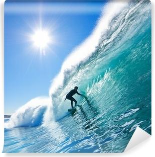 Fotomural Autoadhesivo Surfista en Blue Ocean Wave