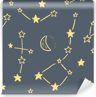 Fotomural Autoadhesivo Textura de la constelación de estrellas