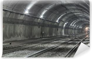 Fotomural Autoadhesivo Túnel del metro vacío
