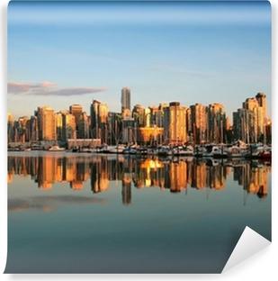 Fotomural Autoadhesivo Vancouver horizonte al atardecer