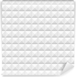 Fotomural Estándar Azulejos blancos, cuadrados, ilustración vectorial, patrón transparente