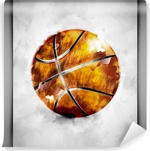 Fotomural Estándar Baloncesto bola de la acuarela