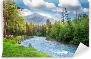 Fotomural Estándar Bosque Montañas