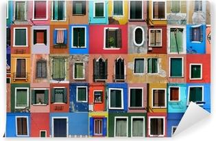 Fotomural Estándar Casas de pescadores de Burano cerca de Venecia