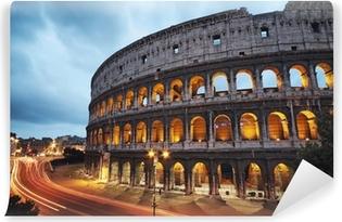 Fotomural Estándar Coliseo en la noche. Roma - Italia