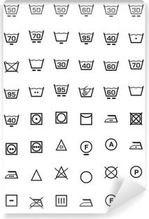 Fotomural Estándar Conjunto de iconos y lavadora