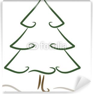 fotomural estndar dibujo rbol de navidad conferas - Dibujo De Arbol De Navidad