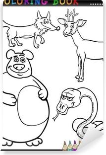 Dibujos Animados De Animales Salvajes Para Colorear Libro