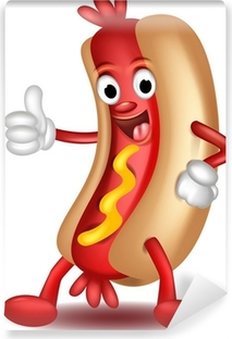 Cuadro En Lienzo Dibujos Animados Hot Dog Thumbs Up Pixers