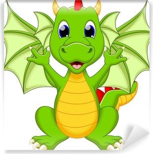 Fotomural Estándar Dragón de dibujos animados