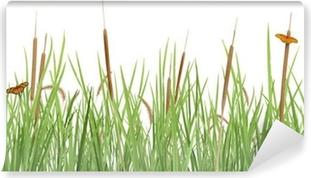 Fotomural Estándar Escena del prado en blanco