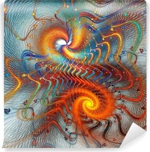 Fotomural Estándar Fondo espiral fractal