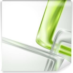Fotomural Estándar Fondo gris abstracto con elementos verdes