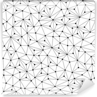 Fotomural Estándar Fondo poligonal, sin patrón, líneas y círculos