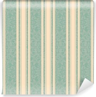 Fotomural Estándar Fondo rayado. vector line art seamless border para plantilla de diseño. elemento decorativo para el diseño en estilo oriental. patrón vintage para invitaciones, tarjetas de felicitación, papel pintado, linóleo, textil.