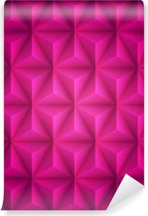 Fotomural Estándar Fondo rosado abstracto geométrico de baja poli papel. Vector