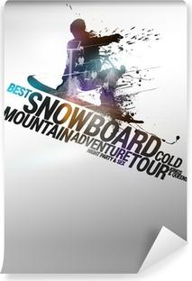 Fotomural Estándar Fondo Snowboard