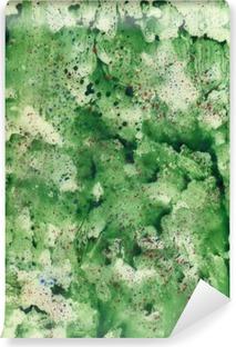 Fotomural Estándar Fondo verde de la acuarela con aerosol rojo.