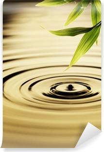 Fotomural Estándar Frescas hojas de bambú sobre el agua