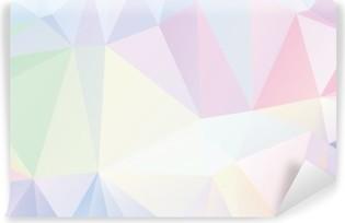 Fotomural Estándar Geométrico del polígono en colores pastel