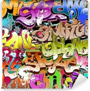Fotomural Estándar Graffiti seamless background. Textura Arte urbano