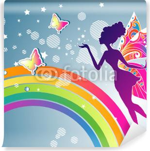 Fotomural Estándar Hada del arco iris gráfico